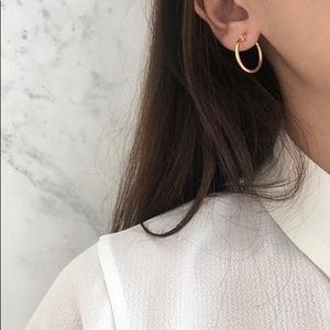 Gold Skinny Hoop Earrings